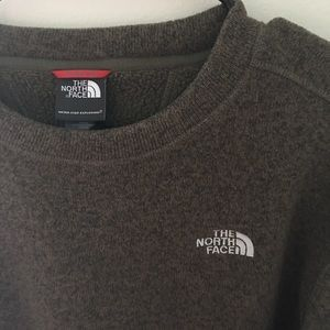 North Face brown fleece sweatshirt